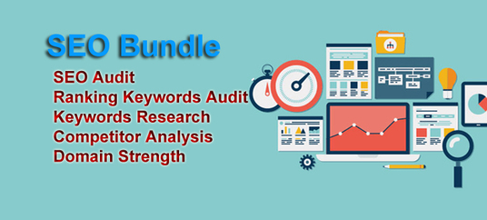 do SEO bundle  - SEO Audit, Ranking Audit, Keywords Research, Competitor Analysis, Domain Strength