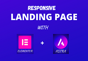 I will do modern landing page design, webpage design, Astra theme and elementor pro
