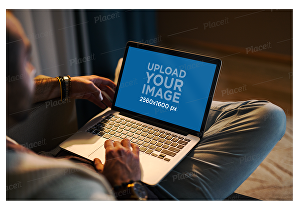 I will put your logo on computer mockup