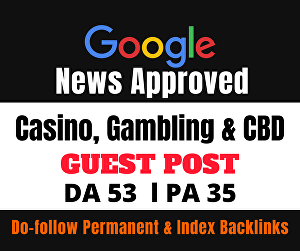 I will Provide You High Quality Google News Approved Dofollow Guest Post Backlinks