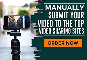 I will manually submit your youtube video to the top video sharing sites