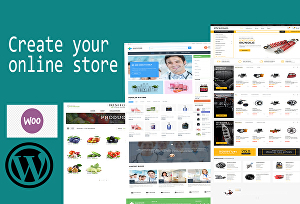 I will do ecommerce online store using woocommerce and elementor