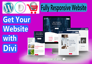 I will design responsive wordpress website with divi theme