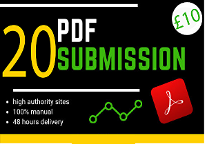 I will manually Submit Article in 20 High PR Article Submission Website + Approved Link Report In
