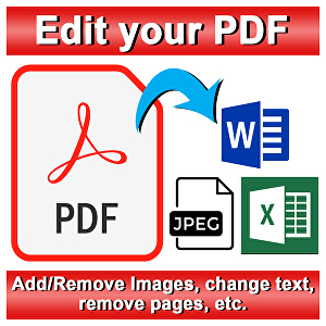 I will edit 100 pages - PDF or Photo edit