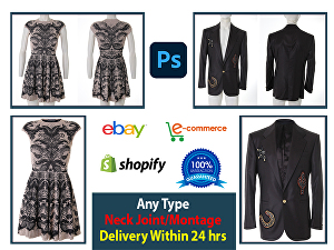I will Do Neck Joint, Fashion Product Editing service within 24 hours
