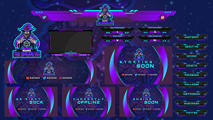 I will design  twitch or stream overlay and mascot logo for your gaming