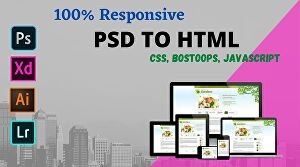 I will Convert PSD to HTML With responsive Bootstrap5 Code