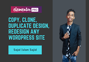 I will clone or duplicate website using Elementor Pro