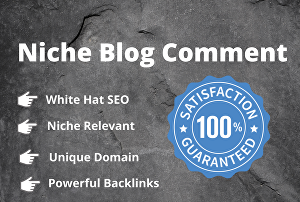 I will provide 100 niche relevant manual blog comments