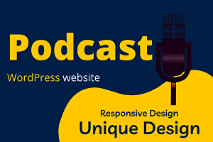 I will create or design a podcast, video, audio WordPress website