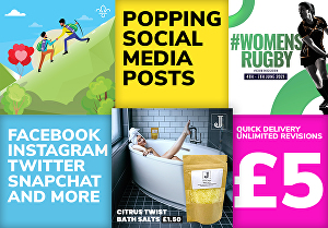 I will create popping social media images for your next post
