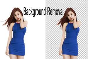 I will remove the background of images with white or transparent