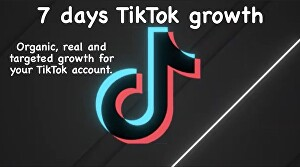 I will grow your tik tok account progressively and manually for 7 days