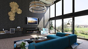 I will create 3D realistic interior and render