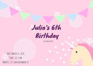 I will design high quality wonderful Birthday or events invitations