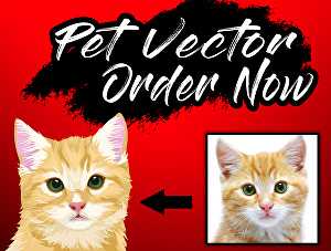 I will draw your pet into an amazing vector art