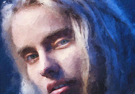 draw a digital portrait or painting of your photo