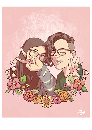 I will draw you single or couple portrait illustration