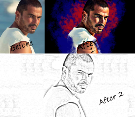 draw a professional oil painting and sketch pencil drawing from your photo in 24 H