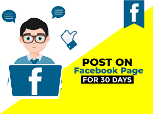 I will post on Facebook Page for 1 month