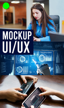design games mockup, ui ux, gui and backgrounds