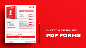 I will create pdf fillable form