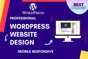 I will create professional wordpress website design modern business elementor blog website