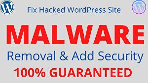 I will remove malware from your WordPress site and add security