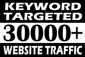 I will drive keyword targeted web traffic for 30 days