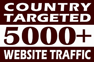 I will drive quality country targeted web traffic
