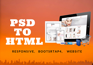 I will convert psd to html bootstrap responsive website