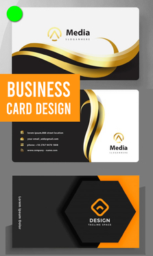 create unique print ready business card or visiting card design