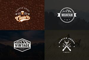 I will design a creative modern, vintage, or retro logo