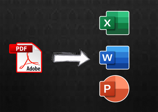 convert your PDF Into Excel, Word or Powerpoint