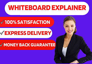 I will create a whiteboard sales explainer video