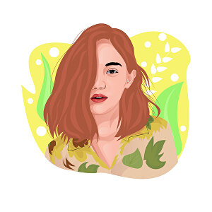 I will draw vector portrait flat illustration based your photo