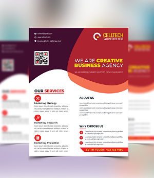 I will create a corporate, business flyer
