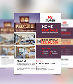 I will design real estate, property flyer for your business