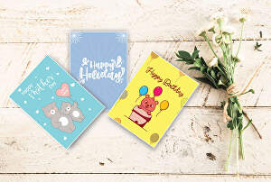 I will design cute greeting and invitation cards