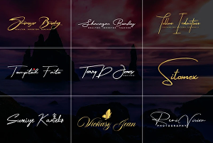 I will design handwritten signature or font or text or photography logo