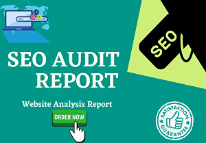 I will provide professional SEO analysis website audit reports