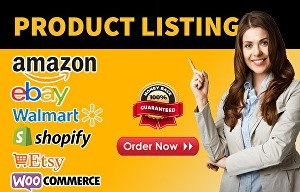 I will List products on your shopify, ebay, etsy and amazon store