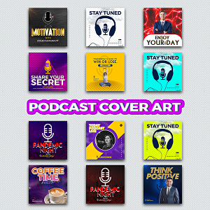 I will design a professional podcast cover art for Spotify or iTunes