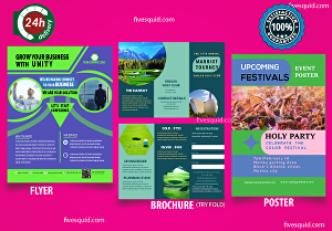 I will design a professional business flyer, brochure,poster, booklet & leaflet in 24h