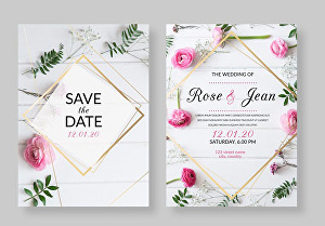 I will Create Great Looking Invitation for your wedding