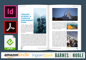 I will do Print Book and eBook typesetting, Format & Layout design in Adobe InDesign