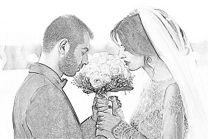 I will make pencil sketch of your couple photo for valentine's gift