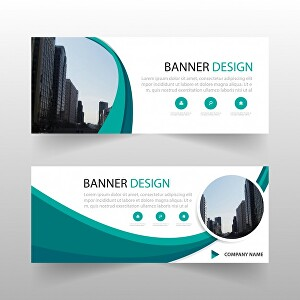 I will design a professional trade show banner backdrop