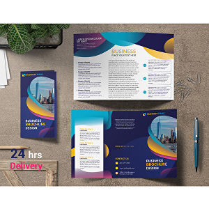 I will do professional bifold or trifold brochure design
